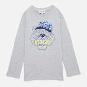KENZO Boys' Tiger Long Sleeved T-Shirt - Grey Marl