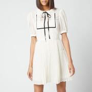 Self-Portrait Women's Lace Collar Chiffon Mini Dress - Cream