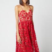 Self-Portrait Women's Azaelea Lace Midi Dress - Red
