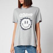 Ganni Women's Ganni Smily Face T-Shirt - Paloma Melange
