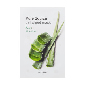 MISSHA Pure Source Cell Sheet Mask - Aloe 28g (Free Gift) (Worth £6.00)