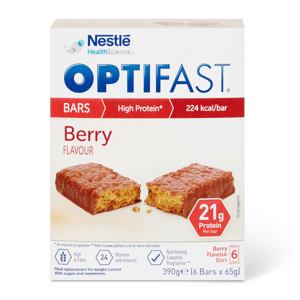 OPTIFAST Meal Bar - Berry - Box of 6