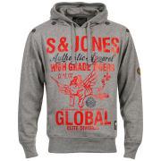 Smith & Jones Men's Grade Hoody - Mid Grey Marl