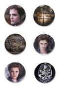 Twilight New Moon Pin Badges (Set of 6) - Edward Set