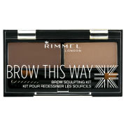 Rimmel Brow This Way Eyebrow Kit - Medium Brown
