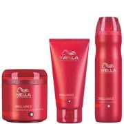 Wella Professionals Brilliance Trio für feines bis normales, farbbehandeltes Haar- Shampoo, SpülungundHaarkur