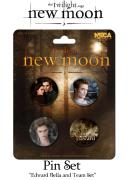 Twilight New Moon Pin Set Of 4 - Edward, Bella And Team Set