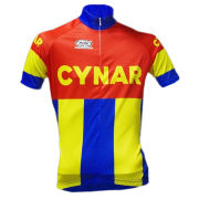 Pella Cynar Team Replica Short Sleeve Jersey - Red/Yellowith Blue