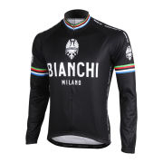 Bianchi Men's Leggenda Long Sleeve Full Zip Jersey - Black