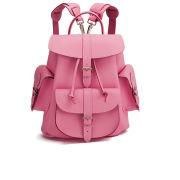 Grafea Pink Lemonade Medium Leather Rucksack - Pink