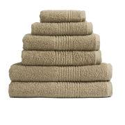 Highams 100% Egyptian Cotton 6 Piece Towel Bale (550gsm) - Latte
