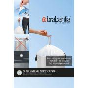 Brabantia PerfectFit Bags 40-50 Litre [H], Dispenser Pack of 30 Bags - White