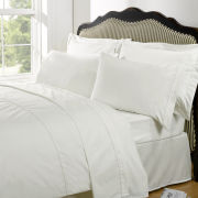 Highams 100% Egyptian Cotton Plain Dyed Fitted Sheet - Cream