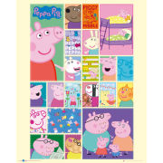Peppa Pig Grid - Mini Poster - 40 x 50cm