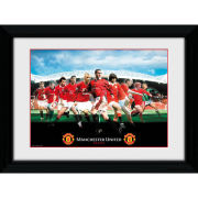 "Manchester United Legends - 16"""" x 12"""" Framed Photographic"