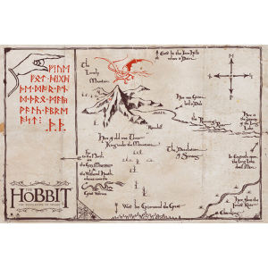 The Hobbit Mountain Map - Maxi Poster - 61 x 91.5cm