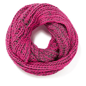 Impulse Women's Neon Knitted Snood - Pink