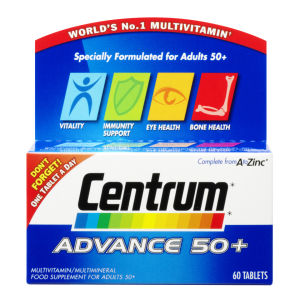 Comprimidos Multivitaminas Centrum Advance 50+ - (60 Comprimidos)
