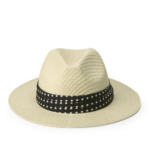 Boardman Bros Women's Classic Straw Hat - Natural/Polka Dot
