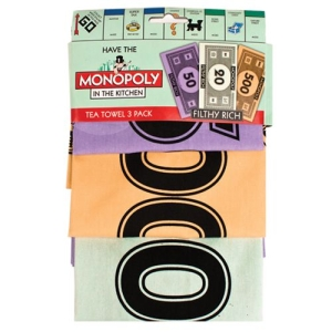 Tea Towel Monopoly Money 3pack