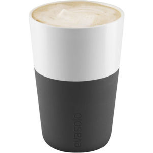 Eva Solo 360ml Café Latte Tumbler - Set of 2 - Carbon Black