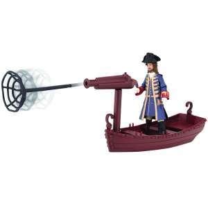 Pirates Of The Caribbean Deluxe Figure and Accessory Wave 1 Barbosa Figure + Long Boat