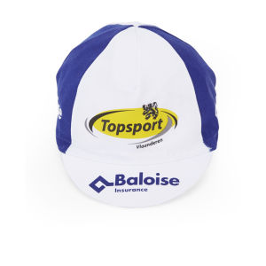 Vermarc Topsport Vlaanderen Baloise Team Replica Cotton Cap - White/Blue
