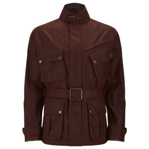 Knutsford Men's 4 Pocket Wax Cotton Field Jacket - Rust