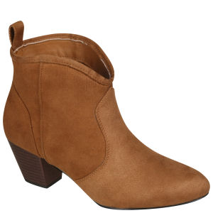 Odeon Women's Heeled Ankle Boots - Tan