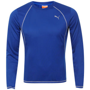 Puma Men's Drycell Long Sleeve T-Shirt - Blue