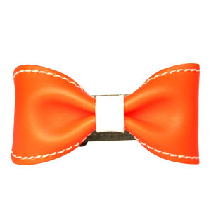 Anna Lou of London Limited Edition Leather Bow Bracelet - Neon Orange