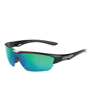 Salice 011 ITA Sports Sunglasses - Mirror - Black/RW Green