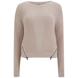 VILA Women's Halino Jumper - Peach