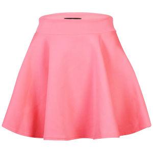 Glamorous Women's Neon Pink Skater Skirt - Neon Pink