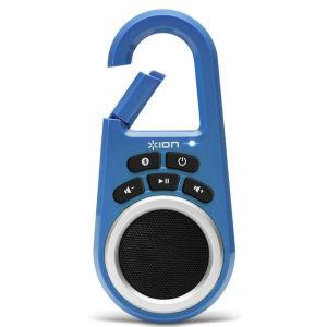 ION Audio Clipster Bluetooth Lautsprecher mit integriertem Clip, blau