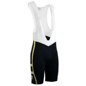Bianchi Rometta Cycling Bib Shorts - Black/Yellow