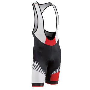 Northwave Bullet Bib Shorts - Black/White/Red