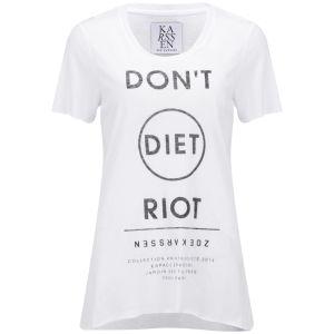 Zoe Karssen Women's Diet T-Shirt - White
