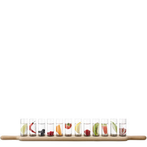 LSA Paddle Grand Vodka Set and Oak Paddle L77cm Clear