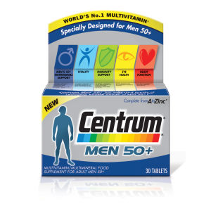 Centrum Men 50 Plus Multivitamin Tablets – (30 tabletter)