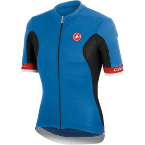 Castelli Volata Full Zip Jersey - Blue/Black/Red