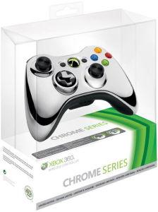 Xbox 360 Chrome Wireless Controller: Silver