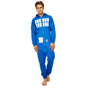 Doctor Who Men's Tardis Adult Jumpsuit - Blue