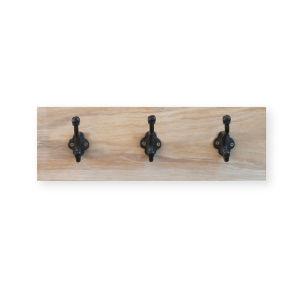 Garden Trading Oak Hook Rail - 3 Hooks