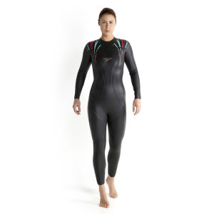 Speedo Women's Comp Full Suit - Black/Pink/Blue
