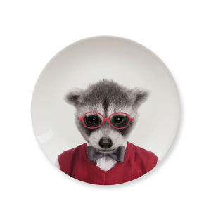 Wild Dining Baby Raccoon - Ceramic Side Plate