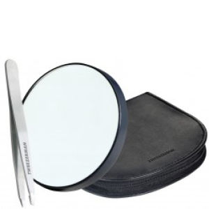 Tweezerman Mirror & Tweezer Set In Leather Case