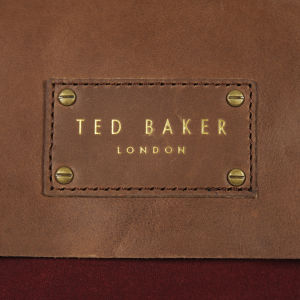 1136b2f90188f Ted Baker Candes Waxed Canvas Despatch Bag - Dark Red  Image 3