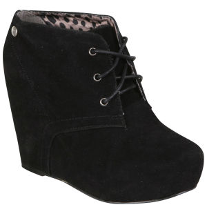 Blink Women's Suede Wedges - Black