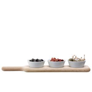 LSA Paddle Bowl Set and Oak Paddle (40cm)